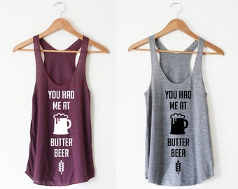 Nerdy Beer Women's Racerback Tank by So Effing Cute - inspired by HP
