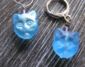 Cat stitch markers for knitting - Crochet Glass Markers Animals Handmade Supplies
