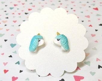 Unicorn Earrings, Cute Earrings, Nickel Free, Unicorn Jewelry, Kawaii Stud Earrings, Everyday Earrings, Gift for Her, Fun Earrings
