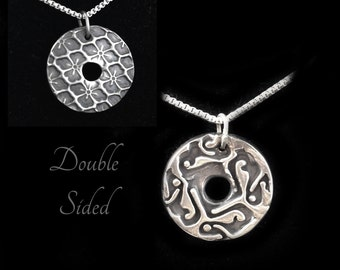 Mens silver pendant etsy silver hand stamped pendant silver celtic jewelry silver necklace men irish jewelry mozeypictures Gallery