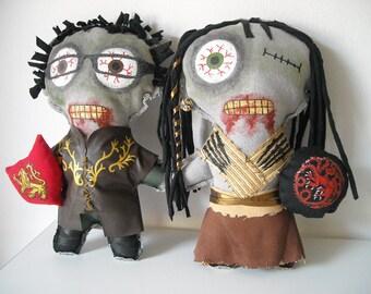 Handmade Personalized one   zombie doll. Custom your family, boyfriend, girlfriend, coworkers, friends. Customize.