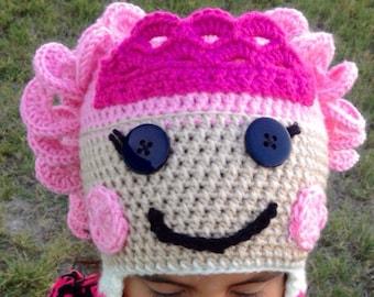 Lalaloopsy inspired rag doll hat