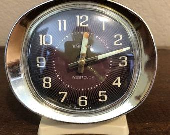 Vintage Baby Ben Westclox Clock, Made in USA, Still Works, Wind Up Alarm Clock