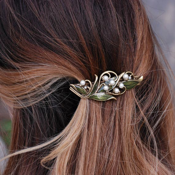 Lily of the Valley Bridal Barrette