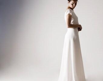 Wedding skirt, Wedding Dress separates, Wedding dress, Bridal skirt, White wedding dress, Silk wedding dress, Minimal wedding dress