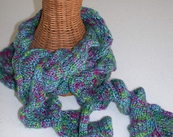 Pattern - Curly Knitted Scarf