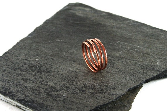 Copper Spiral Wrap Stacking Ring