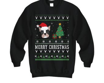 Merry Christmas Frenchie, French Bulldog Christmas Sweatshirt, Frenchie Sweater, French Bulldog Shirt, French Bulldog, French Bulldog Gifts,