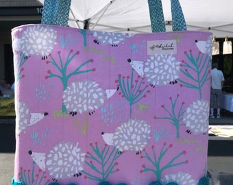 Shopping Hedgehogs Canvas Tote