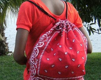 Red Bandana Backpack