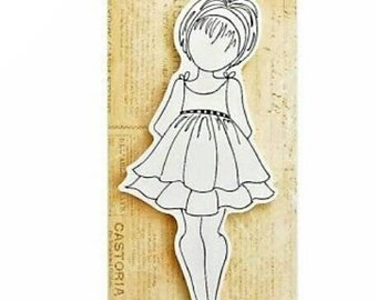 Julie Nutting Rubber Cling Doll Stamp : ~Abby~ Scrapbooking, Crafting, Journaling, Mixed Media
