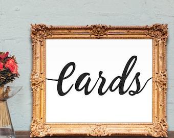 Cards wedding sign - PRINTABLE - 8x10 - 5x7