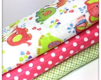 Elephants and polka dots Burp Cloth Set- Burp Cloths- Burp Cloth- Baby Burp Cloth- Nursery- Nursing- Burp Rag- Baby Gift