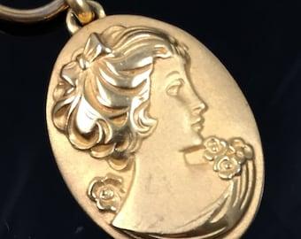Napier cameo etsy napier necklace gold cameo aloadofball Image collections
