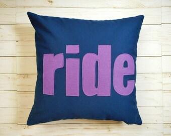 Horse Pillow Cover, Ride, Equestrian Decor
