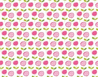 LAST 23 INCHES Riley Blake Summer Breeze Floral in White by Bella Blvd Fabric