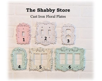Light Switch Cover, Light Switch Plates, Outlet Covers, Plug Cover, Shabby Chic, Switchplate, Outlet Plate Covers, The Shabby Store
