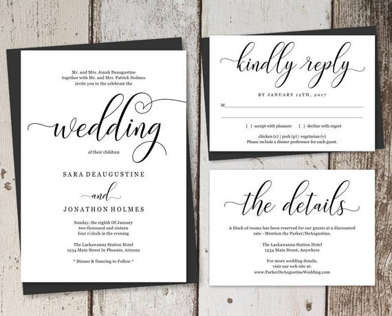 Traditional Wedding Invitation Templates