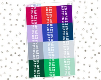 Winter To Do Headers // WH-1 // Matte Planner Stickers