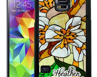 Personalize Rubber Case For Samsung Note 3, Note 4, Note 5, or Note 8- Stained Glass