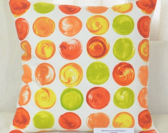 "CUSHION COVER 16""x16"" 41cm sq. Prestigious Swirl Orange 100% Cotton"
