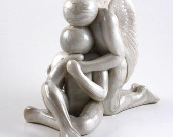 Loss of Father, Loss of Husband, Loss of Son, Brother or other loved one sculpture, memorial clay artwork - made to order