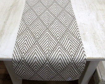 IKAT Tablerunner 13x84 in taupe