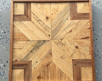 Reclaimed wood, rustic quilt star, wall decor, pallet art