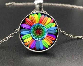 Gay Pride Flower Necklace LGBTQ+ LOVE