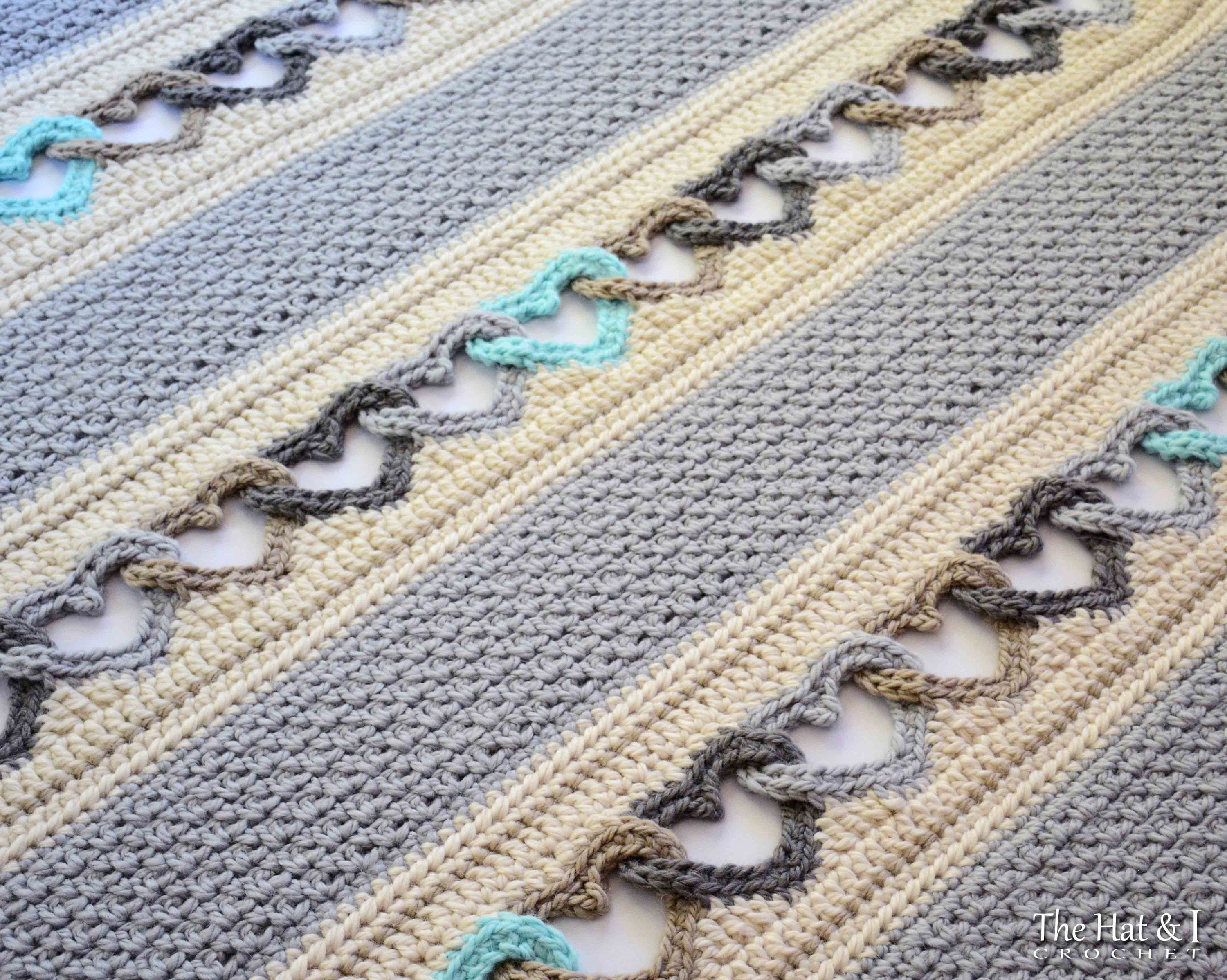 Crochet pattern with all my heart crochet blanket pattern heart this is a digital file dt1010fo