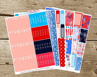 America the Beautiful Weekly Kit (for use in Erin Condren)