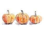 Watercolor Pumpkins Print...