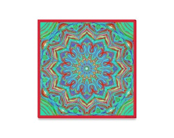Artistic mandala-handpainted- giclee print on streched canvas-high resolution- Ready to hang