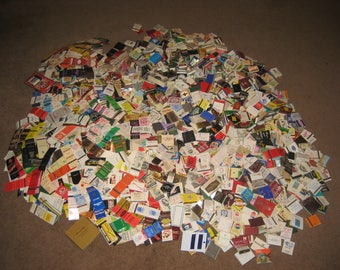 Lot of thousands Vintage Matchbook Covers and Matchbooks from US, some foreign Nice Lot