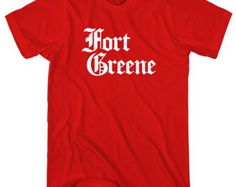 Fort Greene Gothic Brooklyn T-shirt - Men and Unisex - XS S M L XL 2x 3x 4x - Brooklyn New York Tee - 4 Colors