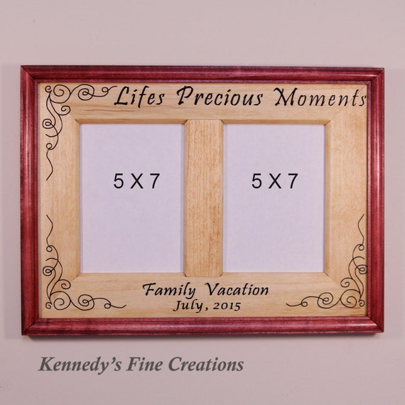 Personalized Lifes Precious Moments Engraved Stained Wood Picture ...