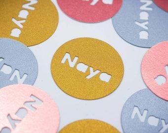 Circle Name Confetti | Personalized Confetti | Custom Confetti | Party Decor | Table Decor