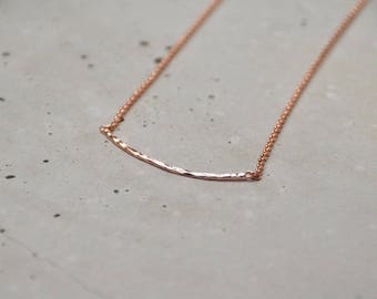 ROSE rose gold chain with bar