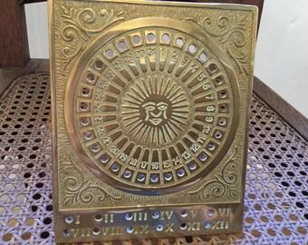 British sundial in brass vintage