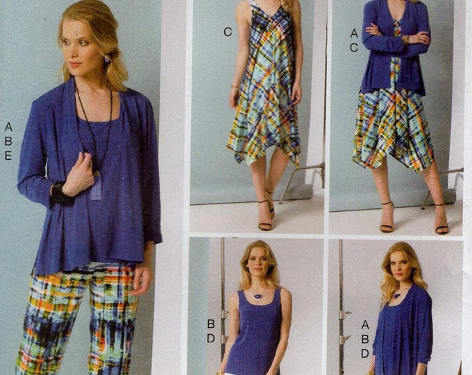 FREE US SHIP Vogue 9117 Sewing Pattern Dress Jacket Top Pants Five Easy Pieces Lined  Size 6 8 10 12 14 Bust 30.5 31.5 32.5 34 36 Last size