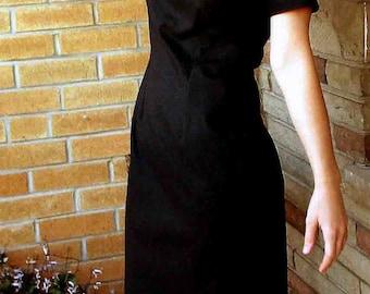 Dress, Black Linen