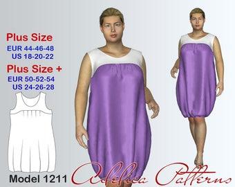 Plus size Summer Dress Sewing Pattern PDF, Women's sizes 18-28, Plus size Dress PDF Instant Download Sewing Pattern, Dress Sewing Pattern