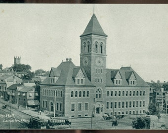Lancaster Ohio City Hall Unused Pre-WWI Divided Back Postcard