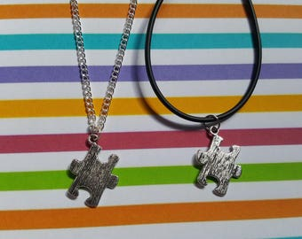 Jigsaw necklace, Jigsaw, Puzzle piece, Pendant necklace, Quirky jewellery, Whimsical jewellery, Unusual gift idea