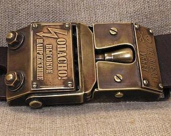 """Belt steampunk """" Belt Electrician"""""""