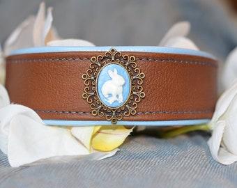 Leather Collar Bunny in the treasure trove;) * Special Price *