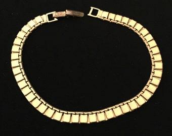 Bar Link Bracelet : Vintage 50's                                                                          VGO953