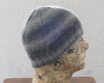 Men's Knit Hat, Hand Knit Hat, Men's Beanie, Striped Beanie, Gifts For Him, Hand Knit Men's Hat, Knit Beanie, Winter Accessory, Knit Hat
