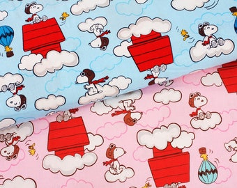 """Snoopy Red Baron Fabric made in Japan FQ 45cm by 53cm or 18"""" by 21"""""""