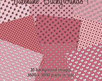 Valentine Backgrounds 1 - Digital Images for Scrapbook and Paper Crafts